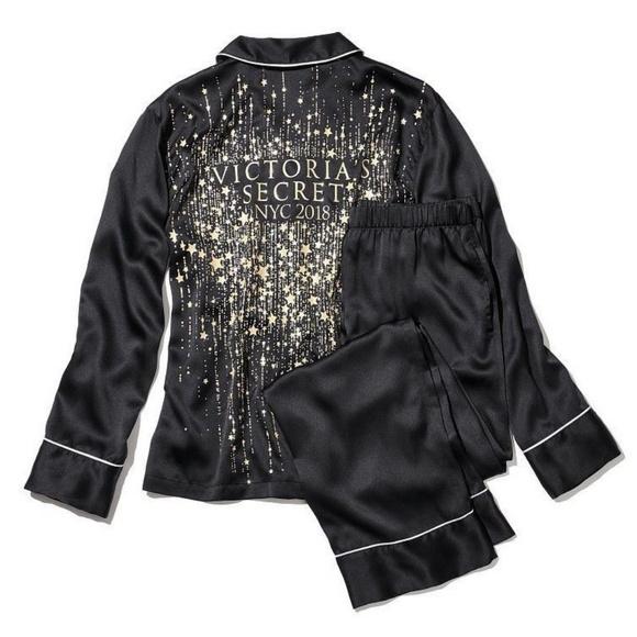 7d5b77713352 Victoria s Secret Fashion Show Satin PJ Pajama SET